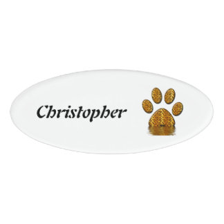 Tiger Paw #2 Name Tag