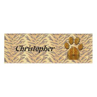 Tiger Paw #2 Name Tag