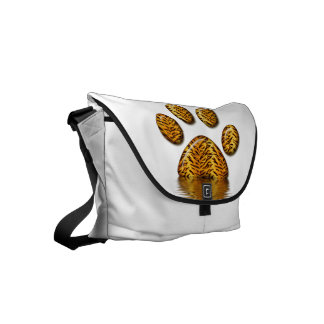 Tiger Paw #2 Small Messenger Bag