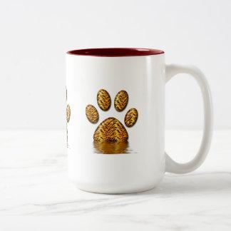 Tiger Paw #2 Two-Tone Coffee Mug