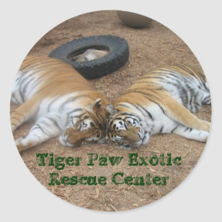 Tiger Paw Exotic Rescue Center Round Sticker