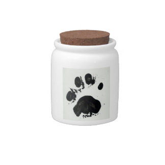 Tiger Paw Print Candy Jar