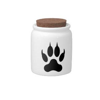 Tiger Paw Print Candy Jars