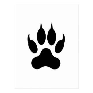 Tiger Paw Print Post Card