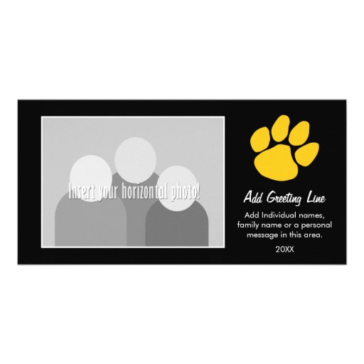 Tiger Paw Print - Sports Fan or Graduation Personalized Photo Card