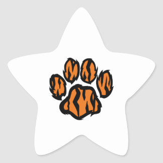 TIGER PAW PRINT STAR STICKERS