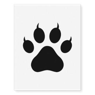 Tiger Paw Print Temporary Tattoos