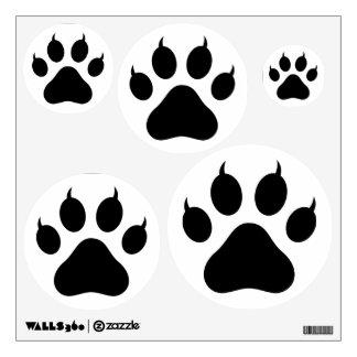 Tiger Paw Print Wall Skins