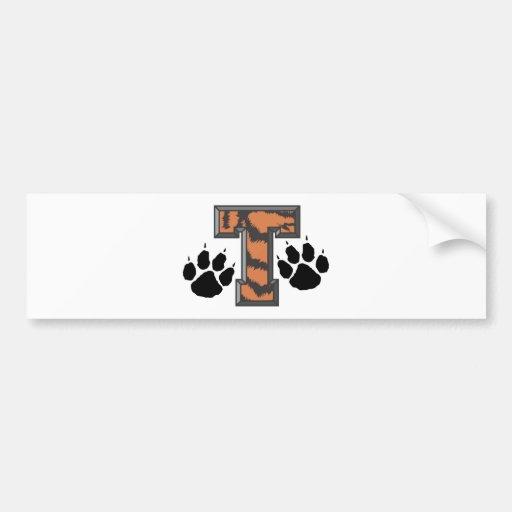 Tiger Paws Car Bumper Sticker