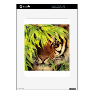 Tiger Peers Behind A Leaf iPad Skin