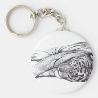Tiger - Pen and Ink Keychain