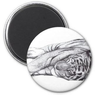 Tiger - Pen and Ink Magnet