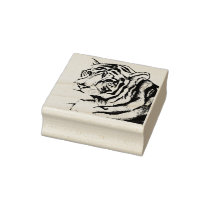 Tiger (Pencil by Kimberly Turnbull Art) Rubber Stamp