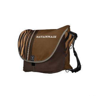 Tiger Personalized Racing Stripe Messenger Messenger Bag