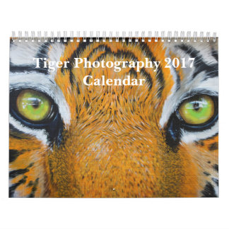 Tiger Photography Wild Animal 2017 Calendar