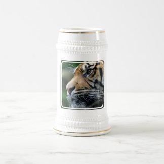 Tiger Picture Beer Stein Mug
