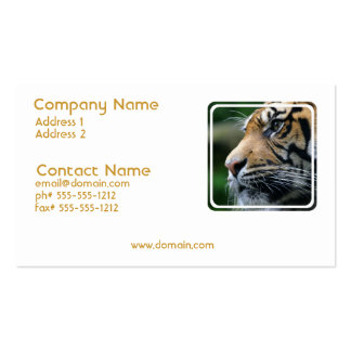 Tiger Picture Business Card