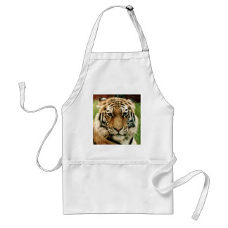 Tiger Picture Close Up Adult Apron