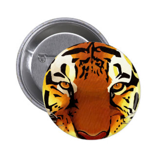 Tiger Pinback Button