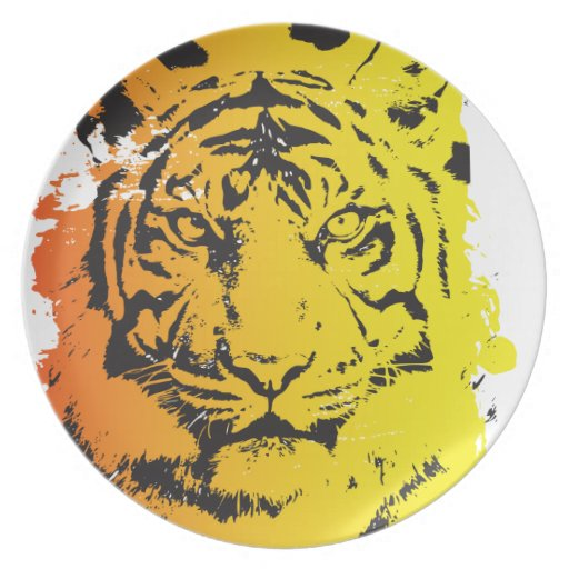 Tiger Party Plates
