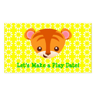Tiger Playdate Card Double-Sided Standard Business Cards (Pack Of 100)