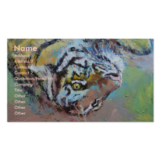 Tiger Playing Business Card Template
