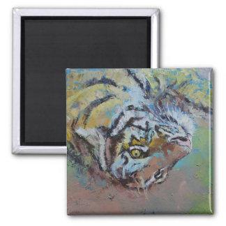 Tiger Playing Fridge Magnet