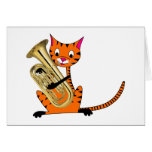Tiger Playing the Euphonium Card