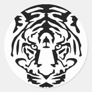 tiger png pegatina redonda