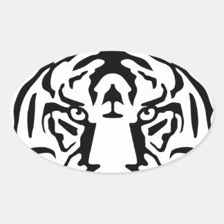 tiger.png pegatina ovalada
