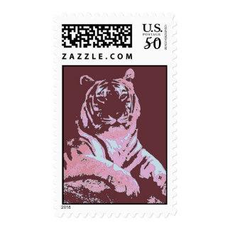 Tiger Pop Art Postage