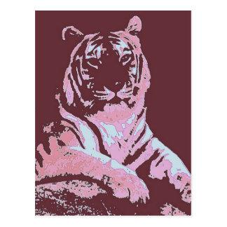 Tiger Pop Art Postcard