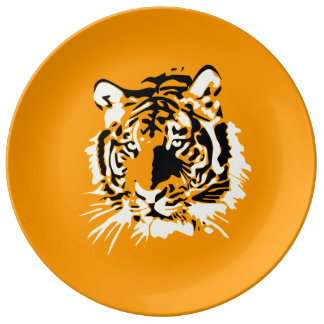 Tiger Porcelain Plate