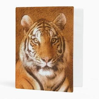 Tiger Portrait Art Mini Binder