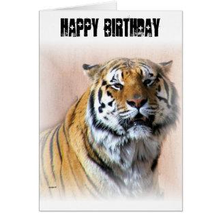 Tiger portrait card