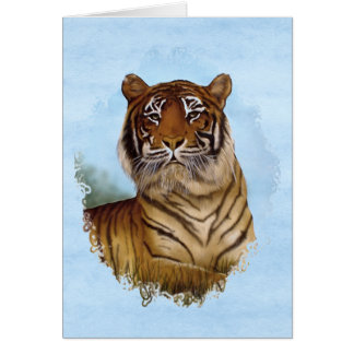 Tiger Portrait Card