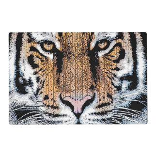 Tiger Portrait Graphic Style Placemat