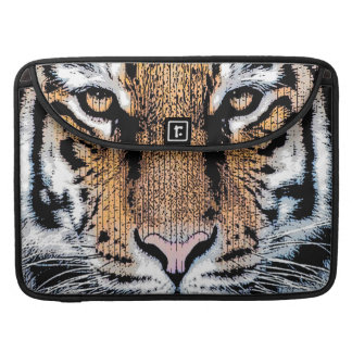Tiger Portrait Graphic Style Sleeve For MacBook Pro