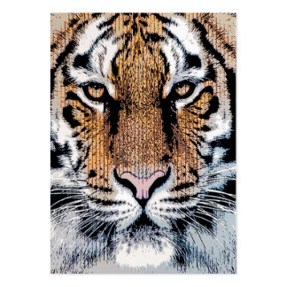 Tiger Portrait in Graphic Press Style Business Card Templates
