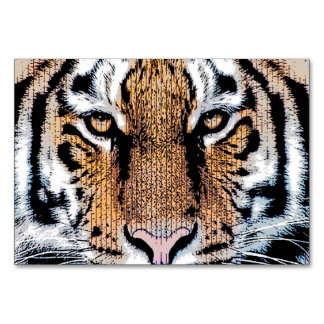 Tiger Portrait in Graphic Press Style Card
