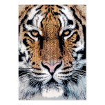 Tiger Portrait in Graphic Press Style Large Business Card