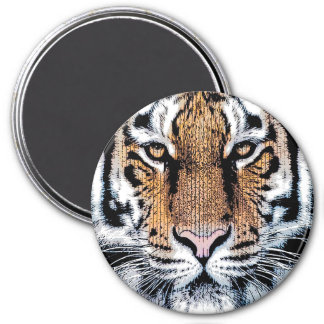 Tiger Portrait in Graphic Press Style Magnet