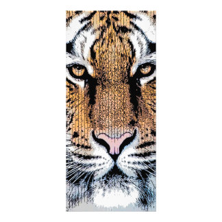 Tiger Portrait in Graphic Press Style Rack Card