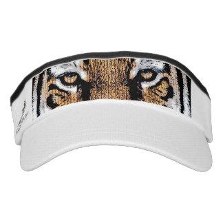 Tiger Portrait in Graphic Press Style Visor