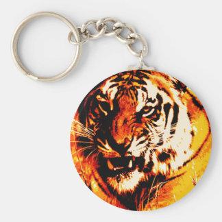 Tiger Portrait Keychain