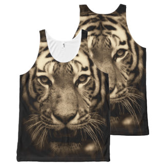 Tiger Portrait King of the Jungle Tank Top All-Over Print Tank Top