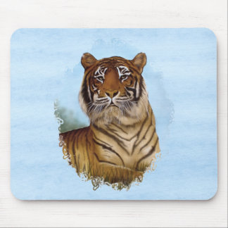 Tiger Portrait Mouse Pad