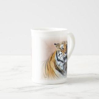 Tiger portrait porcelain mug
