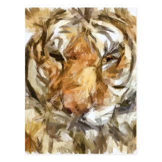 Tiger portrait postcard