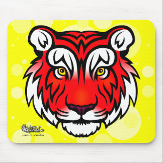 Tiger Portrait (Red) Mouse Pad